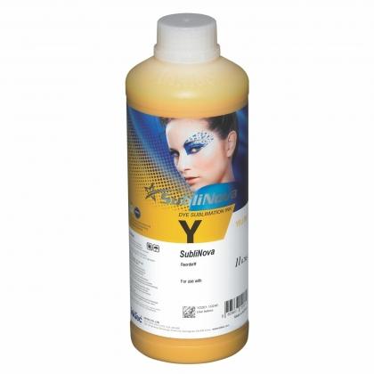Botella 1 litro tinta sublimación SubliNova Amarillo