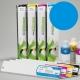 ESU Cartucho de tinta eco-solvente para plóters Roland y Mutoh (DX4/DX5) - Cartucho 440ml - cian