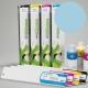 ESU Cartucho de tinta eco-solvente para plóters Roland y Mutoh (DX4/DX5) - Cartucho 440ml - cian-claro
