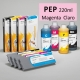 PEP Cartucho de tinta pigmentada PowerChrome para plóters Epson Stylus Pro 4000/9600 - Cartucho 220ml - magenta-claro