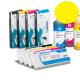 PLD Cartucho de tinta dye para plóters Mimaki, Roland, Epson y Mutoh - Cartucho 220ml - amarillo