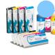 PLD Cartucho de tinta dye para plóters Mimaki, Roland, Epson y Mutoh - Cartucho 220ml - cian-claro