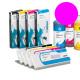 PLD Cartucho de tinta dye para plóters Mimaki, Roland, Epson y Mutoh - Cartucho 220ml - magenta