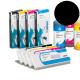 PLD Cartucho de tinta dye para plóters Mimaki, Roland, Epson y Mutoh - Cartucho 220ml - negro