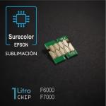 Chip 1 litro para Epson Surecolor F6000, F7000, Sublimación - amarillo