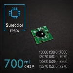 Chip 700ml para Epson Surecolor SC-T3000/T5000/T7000, T3070/T5070/T7070, T3200/T5200/T7200, T3270/T5270/T7270, PIGMENT - negro-foto