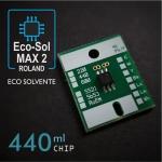 Chip EcoSol-Max2 de 440ml para plóters Roland, 6 colores - negro