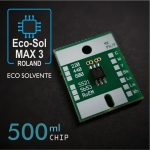 Chip EcoSol-Max3 para cartuchos eco-solventes Roland, chip 500ml, 6 colores - negro