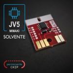 Chip Permanente Compatível Compatível com Plotters Mimaki JV5 - Preto
