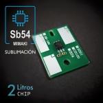 Chip SB54 de 2 litros para plóters Mimaki, Sublimación - negro